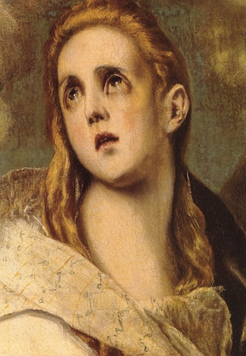 The Penitent Magdalene [detail] by El Greco
